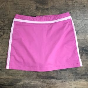 Adidas Pink Stripe Back Pleat Activewear Skort